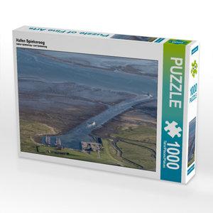 Hafen Spiekeroog 1000 Teile Puzzle quer