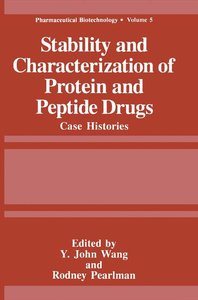 Stability and Characterization of Protein and Peptide Drugs