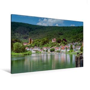 Premium Textil-Leinwand 120 cm x 80 cm quer Neckarsteinach - Die
