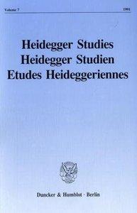 Heidegger Studies / Heidegger Studien / Etudes Heideggeriennes 2