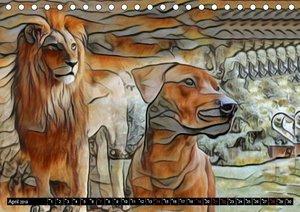 Rhodesian Ridgeback der Hund mit dem Tropfen Löwenblut (Tischkal