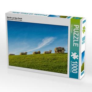 Schafe auf dem Deich 1000 Teile Puzzle quer