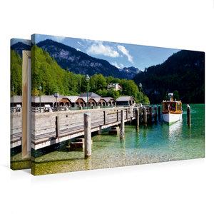 Premium Textil-Leinwand 75 cm x 50 cm quer Schönau am Königssee