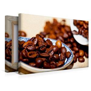 Premium Textil-Leinwand 45 cm x 30 cm quer Kaffeebohnen