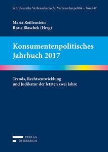Konsumentenpolitisches Jahrbuch 2017
