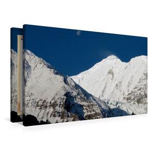 Premium Textil-Leinwand 90 cm x 60 cm quer Annapurna Himal - Gan