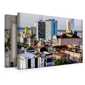 Premium Textil-Leinwand 45 cm x 30 cm quer Teatro Amazonas Mana