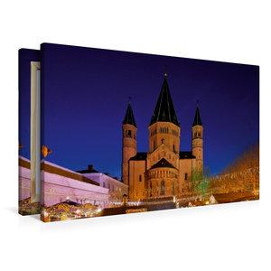 Premium Textil-Leinwand 90 cm x 60 cm quer Mainzer Dom
