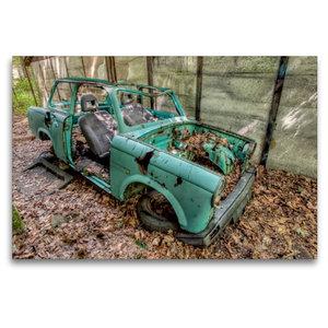 Premium Textil-Leinwand 120 cm x 80 cm quer Rostlaube - Trabant