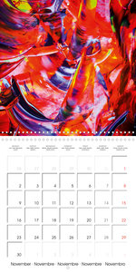 Abstract acrylic (Wall Calendar 2020 300 × 300 mm Square)