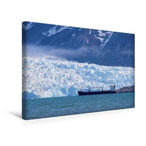 Premium Textil-Leinwand 45 cm x 30 cm quer Ein Frachter auf Reed
