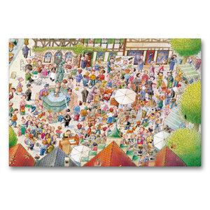 Premium Textil-Leinwand 90 cm x 60 cm quer Auf dem Flohmarkt ist