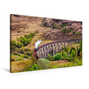 Premium Textil-Leinwand 75 cm x 50 cm quer Glenfinnan Viadukt