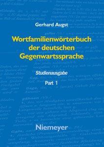 Wortfamilienwörterbuch der deutschen Gegenwartssprache