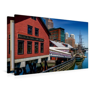 Premium Textil-Leinwand 120 cm x 80 cm quer Boston Tea Party Mus