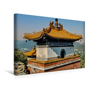Premium Textil-Leinwand 45 cm x 30 cm quer Tibetanischer Tempel