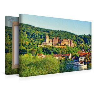 Premium Textil-Leinwand 45 cm x 30 cm quer Schloss Heidelberg