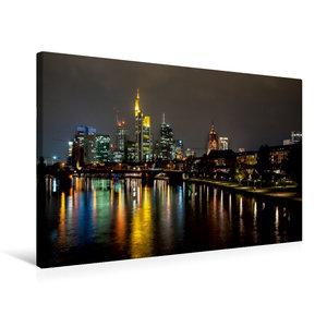 Premium Textil-Leinwand 75 cm x 50 cm quer Frankfurt