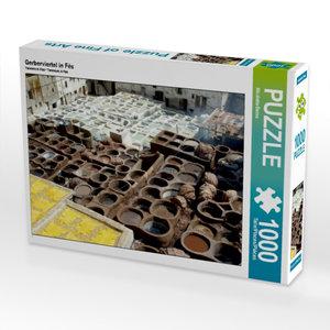 Gerberviertel in Fès 1000 Teile Puzzle quer