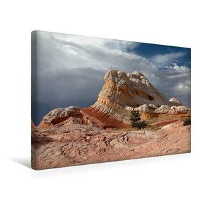 Premium Textil-Leinwand 45 cm x 30 cm quer Lollipop Rock, White