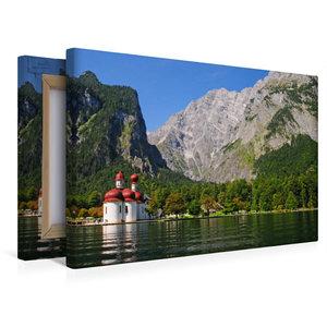 Premium Textil-Leinwand 45 cm x 30 cm quer Königssee