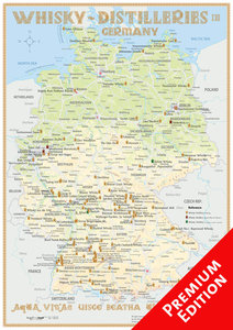 Whisky Distilleries Germany - Poster 42x60cm - Premium Edition