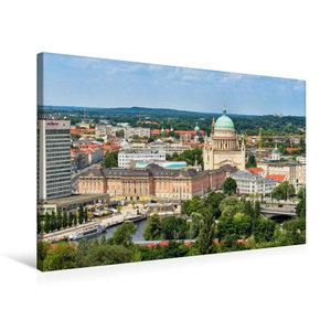 Premium Textil-Leinwand 75 cm x 50 cm quer Potsdams neue alte Mi