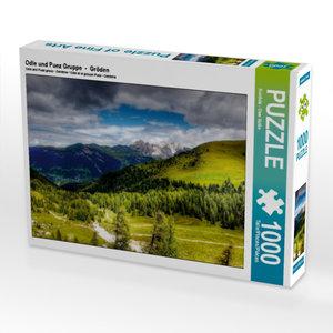 Odle und Puez Gruppe - Gröden 1000 Teile Puzzle quer