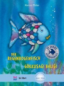 Der Regenbogenfisch. Kinderbuch Deutsch-Türkisch