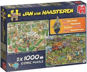 Puzzel Jan Van Haasteren Food Festival 2in1 2x 1000 Stukjes