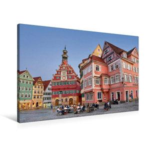 Premium Textil-Leinwand 90 cm x 60 cm quer Das Alte Rathaus von