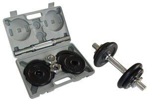 Schildkröt Fitness 960012 - Kurzhantel Set 10kg Im Koffer, schwa