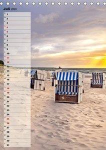An der See Geburtstagsplaner (Tischkalender 2020 DIN A5 hoch)