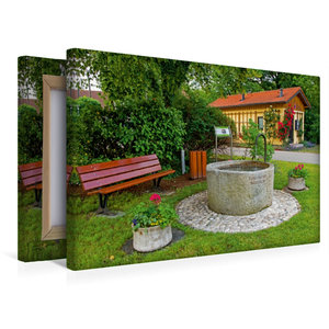 Premium Textil-Leinwand 45 cm x 30 cm quer Toni-Meyer-Brunnen Ha
