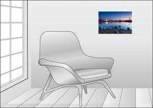 Premium Textil-Leinwand 45 cm x 30 cm quer Altstadtpanorama in D
