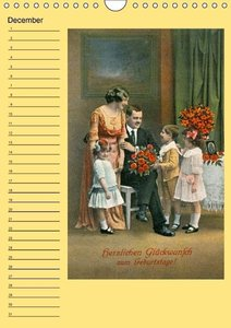 Nostalgic greetings (Wall Calendar perpetual DIN A4 Portrait)