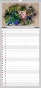 Katzenkalender mausgemalt - Familienplaner hoch (Wandkalender 20