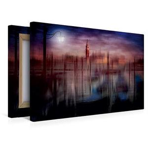 Premium Textil-Leinwand 45 cm x 30 cm quer City-Art VENEDIG Gond
