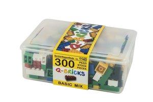 Bausteine Mix Box 300 Teile in Basic Farben in praktischer Aufbe