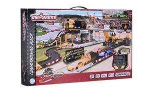 Majorette 212050004 - Lamborghini Race Spielset, Autorennbahn, T