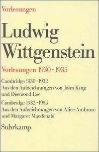 Vorlesungen 1930 - 1935 (5508 290)