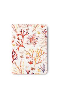 Notizbuch bestickt, Design Koralle