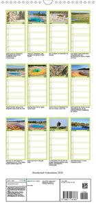 Wunderwelt Yellowstone 2020 - Familienplaner hoch (Wandkalender