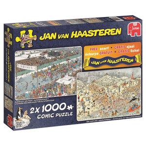 Jan van Haasteren - Winterspaß - 2 x 1000 Teile
