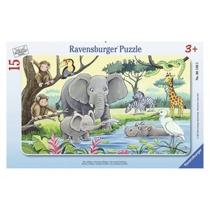 Ravensburger 06136 - Tiere Afrikas, Kinderpuzzle