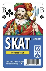 Skat, französisches Bild. FXS Traditionelle Spielkarten