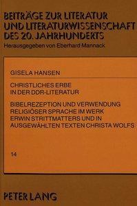 Christliches Erbe in der DDR-Literatur