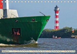 Containerschiffe auf der Elbe (Tischkalender 2019 DIN A5 quer)