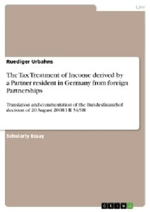 The Tax Treatment of Income derived by a Partner resident in Ger