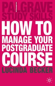 How to Manage your Postgraduate Course